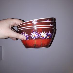 Other - 4  floral plastic bowls